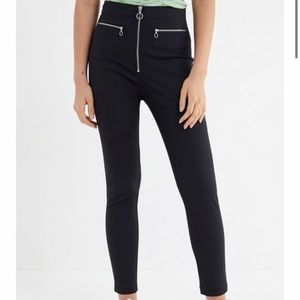 UO Susie High Waisted Cropped Zip-Front Pant